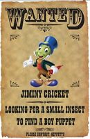 Jiminy Cricket Wanted Poster Fridge Magnet. 3.5 X 5. Disneyland....free Ship