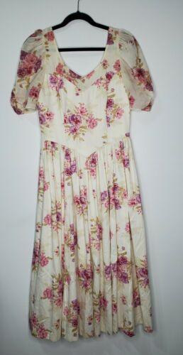 Vintage 90s Laura Ashley Size 14 Cottagecore Flor… - image 1
