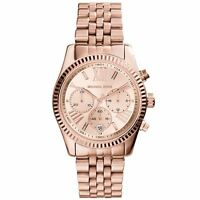 Michael Kors Lexington Ladies Chronograph Watch Rose Gold Pvd Dial Mk5569