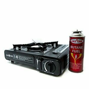 GAS ONE GS-3000 Portable Gas Stove with Carrying Case 9000 BTU CSA Approved B...