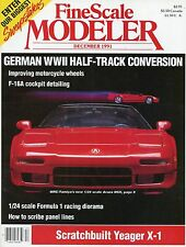 Fine Scale Modeler Magazine December 1991 Yeager X-1 / F16A