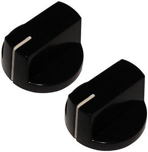 2 Boutons De Potentiomètre Pour Axe Lisse 6.35mm Ø26x15,4mm Noir En Bakélite Fccrojyc-07181140-739883466