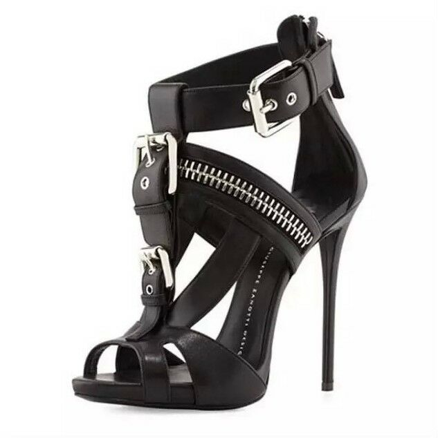 Women's Gladiator Open Toe Buckle Strappy Sandals Stilettos High Heels Club shoes