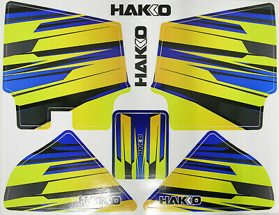 Hakko ALL NEW Geometric Blue//Yellow Flame DECAL-FXBY For FX888D-23BY FX-888D