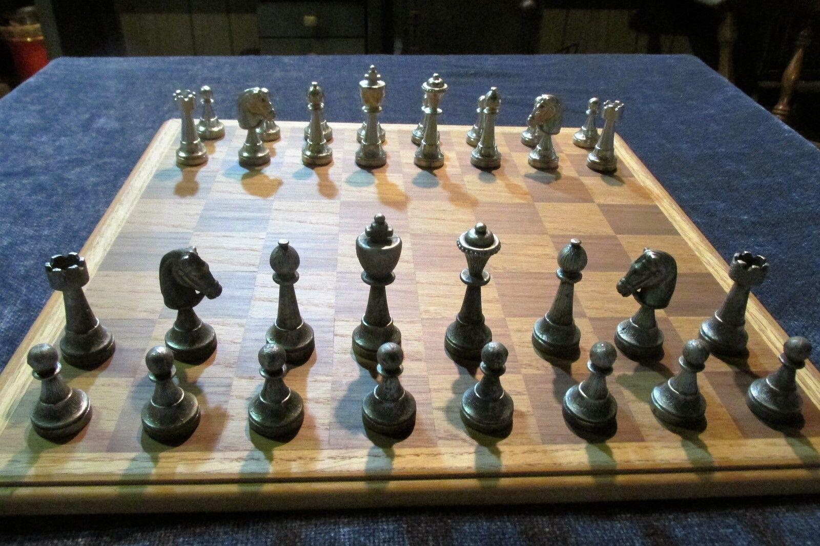 Britannia Étain staunton chess set 2 3 4 pouces de hauteur rois livraison gratuite