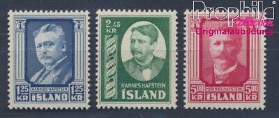 8304946 Briefmarken Island 293-295 Postfrisch 1954 Hannes Hafstein
