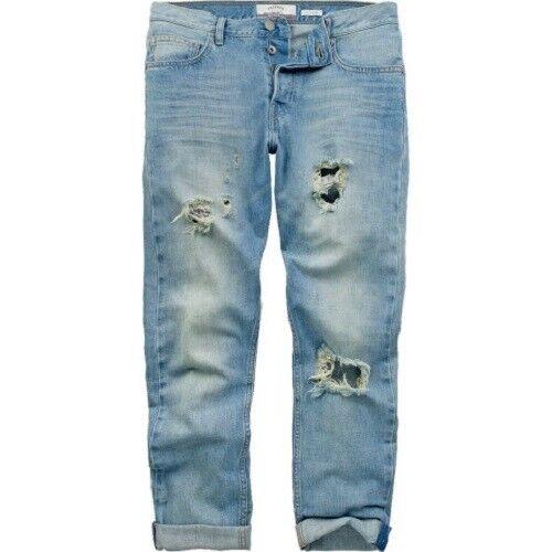 Fat Face-femme-slim Boyfriend Nouveau Pâle Jeans-denim - 100% Coton-bnwt