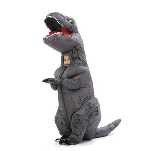 Inflatable Dinosaur Costume T Rex Fancy Dress Kid Adult Halloween Blow Up Suit