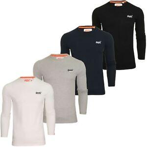 Superdry-Mens-039-Orange-Label-Vintage-039-T-Shirt-Long-Sleeved