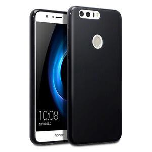 Huawei-Honor-8-Case-Rock-Cover-Ultra-Slim-Flexible-high-Density-Micro-Gel-Black