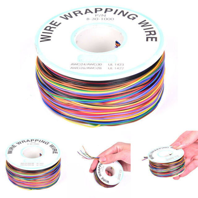 30AWG Mixed Color Jump Wire Tinned Copper PVC Insulation Single Strand Ok Wir I2
