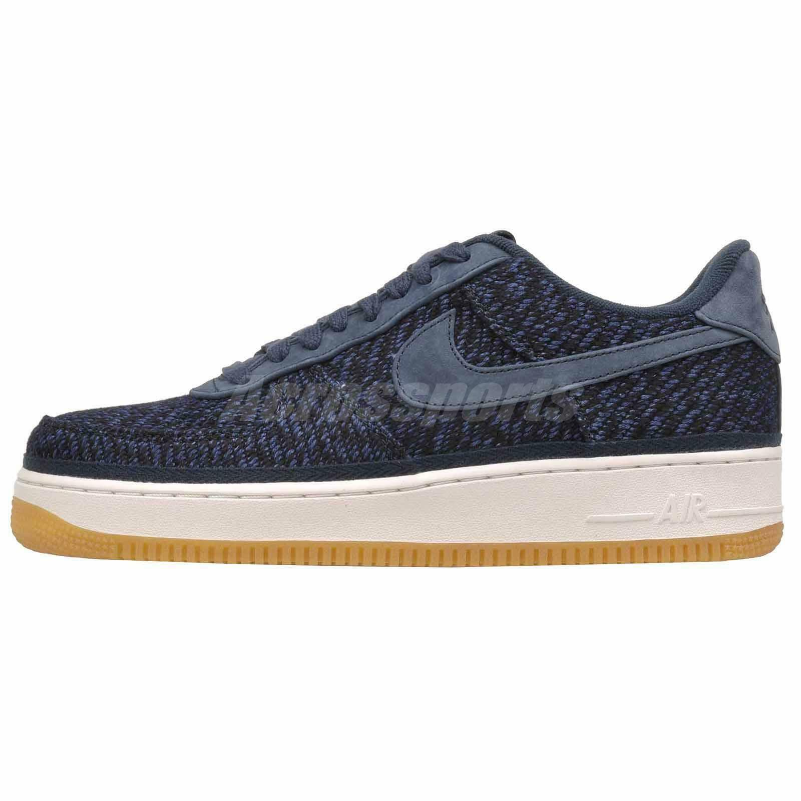 Nike Air Force 1 07 Indigo Casual Mens shoes Sneakers Navy bluee 917825-400