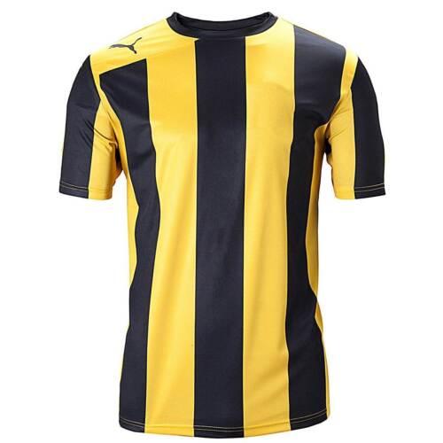 Puma Homme équipe de football shirt Noir /& Rayures Jaunes S /& XXL