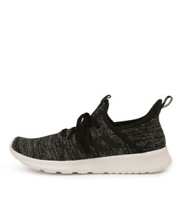Details about New Adidas Neo Cloudfoam Pure Black White Womens Shoes Casual Sneakers Casual