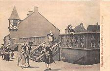 B93669 vieux liege exposition  plate forme gothique painting postcard belgium