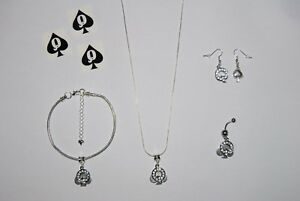 Image Is Loading Queen Of Spades Hotwife Anklet Necklace Earrings Tattoo