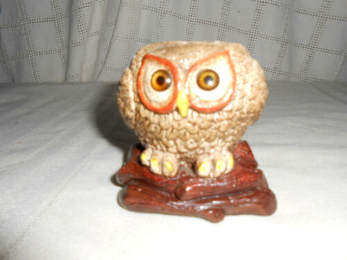 1970's Ann's original owl candle holder #2008 chalkware