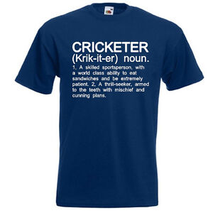a153adc48 CRICKETER Funny Men's T-Shirt Cricket Player Definition Gift | eBay