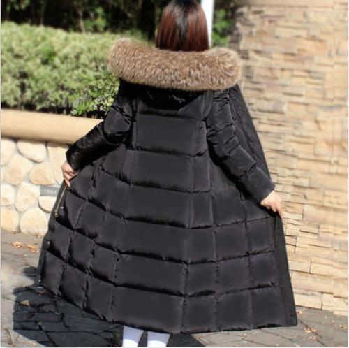 Warm Coats Duck Down Jackets Large Winter 90 Parka Fur Hooded Long Women's aqxwvHSw
