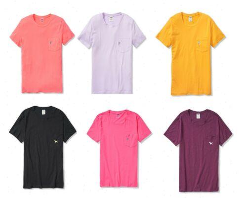 Choose Your Color Victoria/'s Secret PINK Short Sleeve Campus Tee S-L