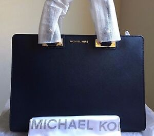 0a5e11fd35db80 NWT MICHAEL MICHAEL KORS Quinn Large Saffiano Leather Satchel in ...