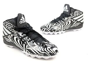the best attitude c01ba fd6d5 Image is loading Adidas-Men-Freak-MD-Stars-Stripes-Black-White-