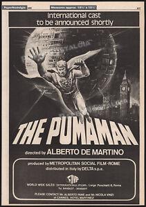 THE PUMAMAN__Original 1979 Trade Print AD / poster__MST3K__DONALD PLEASENCE
