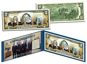 LIVING-PRESIDENTS-Legal-Tender-U-S-2-Bill-OBAMA-BUSH-CLINTON-Jimmy-CARTER
