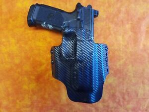HOLSTER-COMBO-BLACK-CARBON-KYDEX-FITS-FNX-45-TACTICAL-W-RMR-W-TRIPLE-MAG-HOLSTER