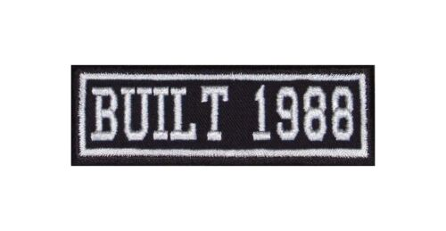 Built 1988 Biker Patch year of Birth construction number MOTORCYCLE MC BADGE