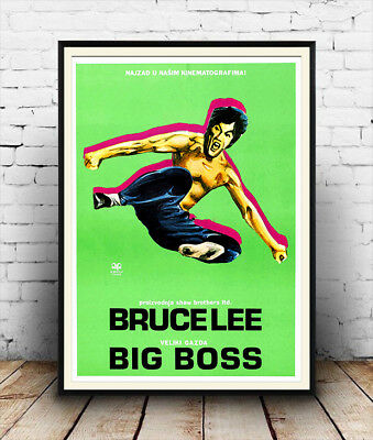 Big Boss Bruce Lee Vintage Movie Advertising Poster Reproduction Ebay