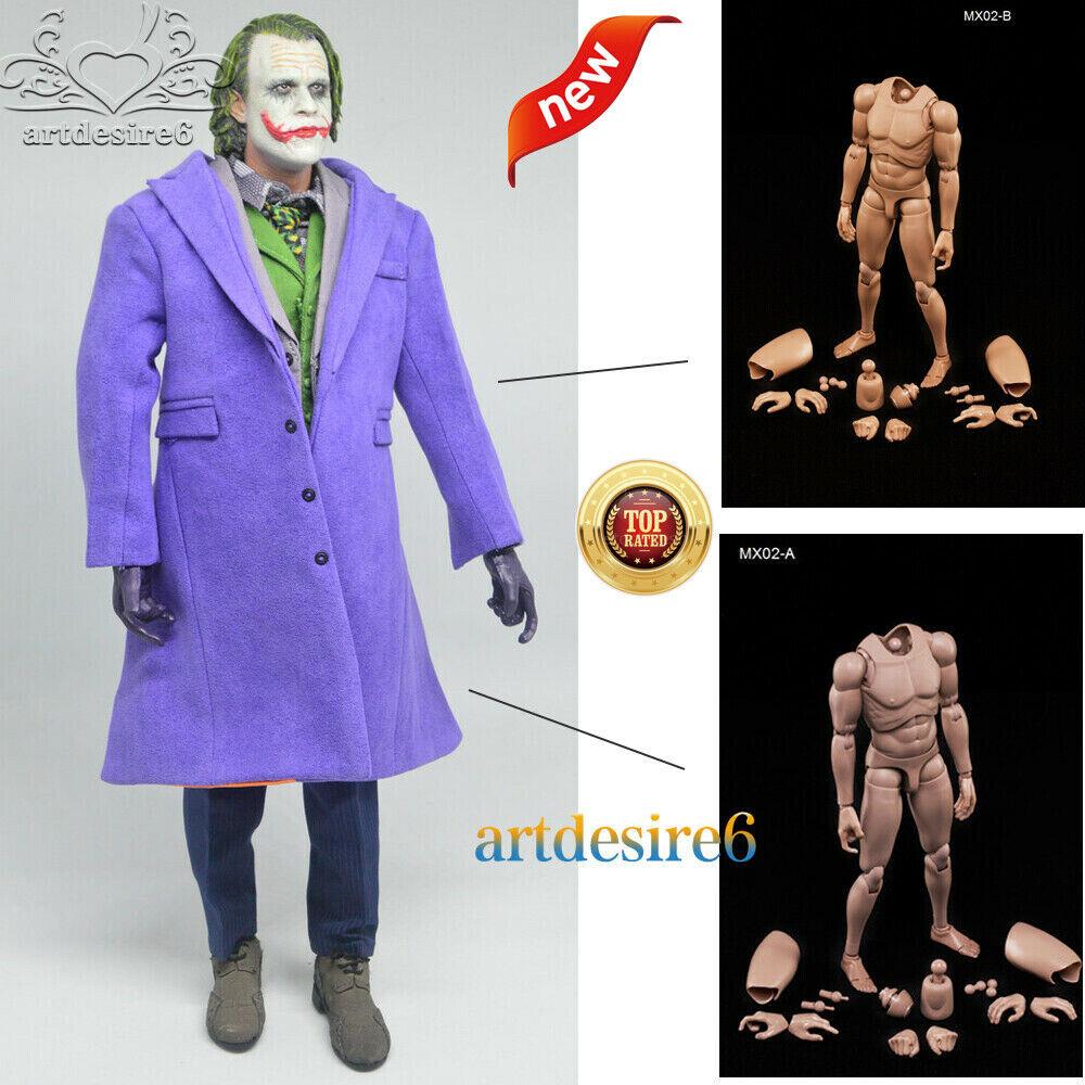 Joker Headplay 1 6 Scale Heath Ledger Head Sculpt MX02 Caucasian Muscle Figure