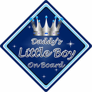 Personalised Child//Baby On Board Car Sign ~ Mummy /& Daddys Prince ~ D.Blue