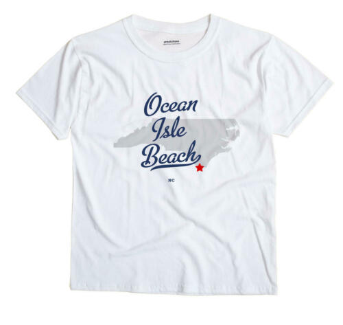 Ocean Isle Beach North Carolina NC T-Shirt Souvenir MAP
