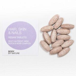 Hair,Skin & Nails Vegan ,Biotin,Silica,Copper,MSM,Zinc ...