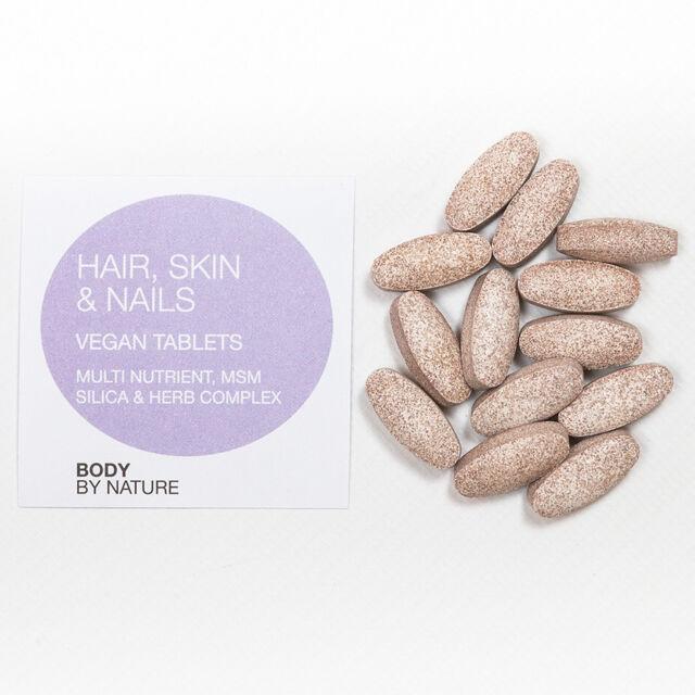 Hair Skin & Nails Biotin Silica Copper MSM Zinc Calcium Horsetail ...