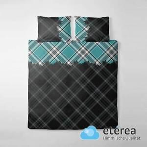 et rea microfaser bettw sche painters check 135x200 200x200 200x220 80x80 40x80 ebay. Black Bedroom Furniture Sets. Home Design Ideas