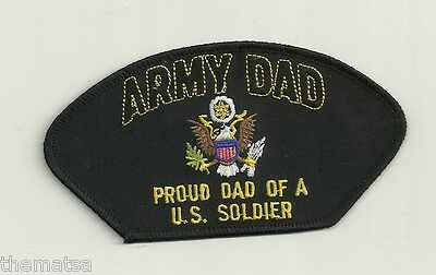 PROUD ARMY DAD FATHER   OF A U.S. SOLDIER EMBROIDERED MILITARY  PATCH