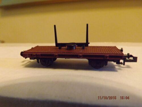 N Scale Minitrix 3161 Flatcar for Logs with box