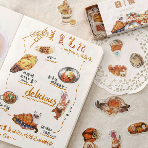 Vintage Stickers Stationery Sealing Diary Label Planner DIY Scrapbooking Decor