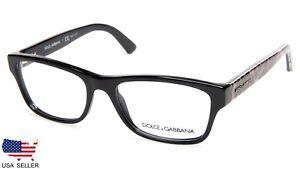 ee743e4c631 NEW D G Dolce Gabbana DG 3208 2525 BLACK   LEOPARD EYEGLASSES ...