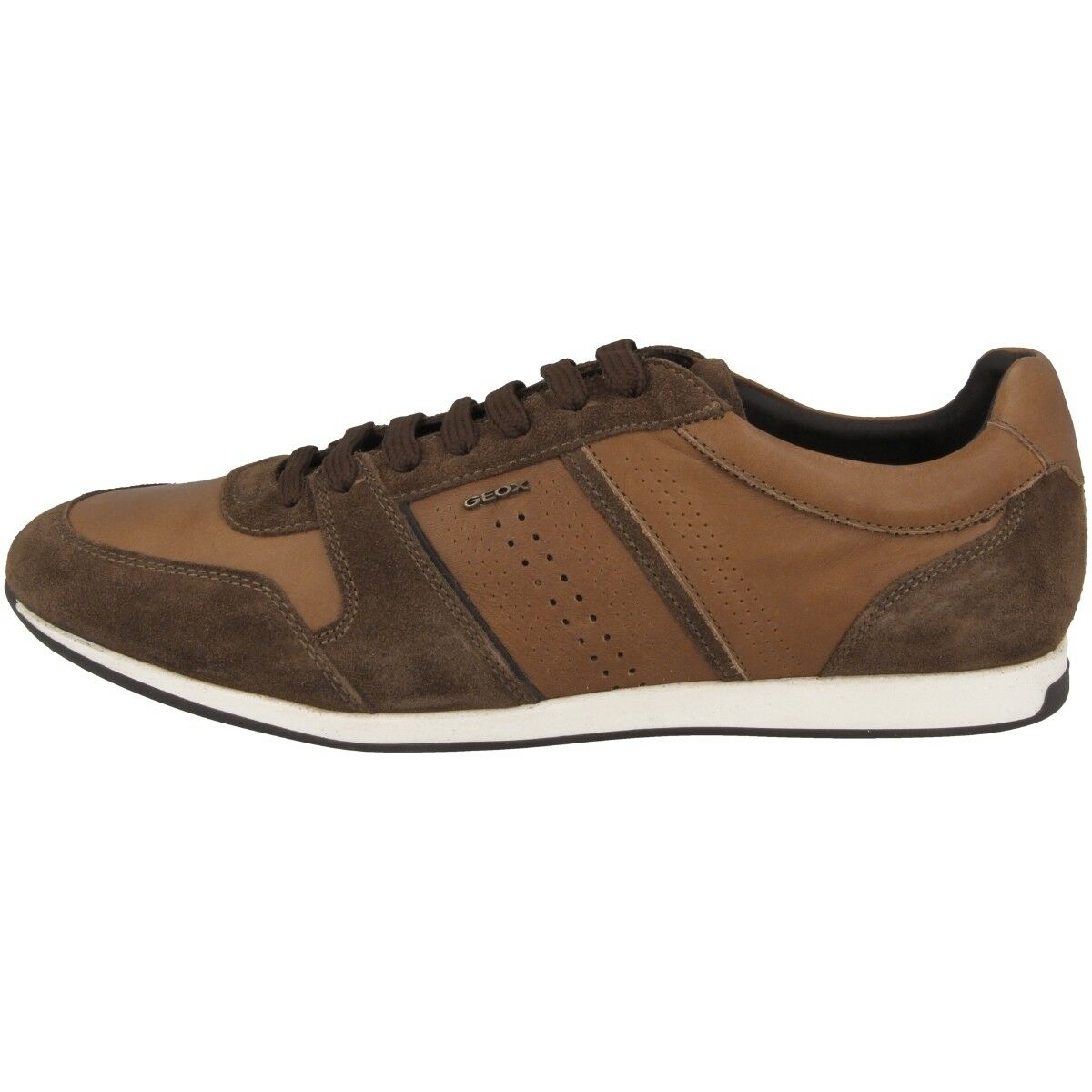 GEOX U Clemet A Schuhe Herren Sneaker Leder Halbschuhe cognac U822FA0FF22C6N6G