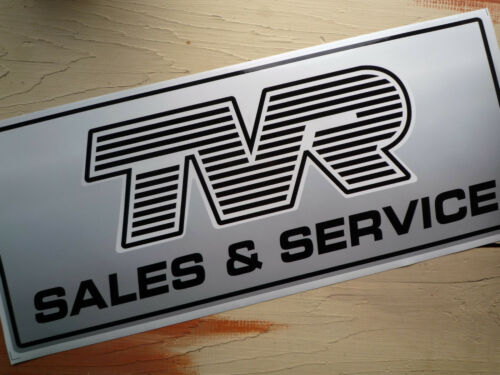 TVR SALES /& SERVICE large Workshop Garage Sign Lightbox etc Sticker