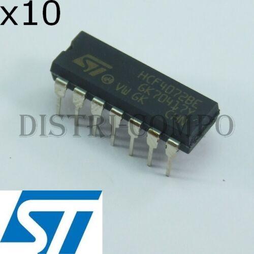 4072 = HCF4072BE CMOS Dual 4 Eingang or gate DIP-14 STM Set aus 10
