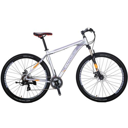 "Mens Mountain Bike Shimano 21 Speed Aluminium Disc Brakes Bicycle 29/"" MTB"