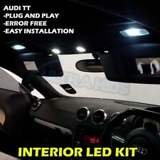 AUDI TT mk2 LED le luci di interni Lampadine Kit-Xenon Bianco 4pc Upgrade SMD 501 T10