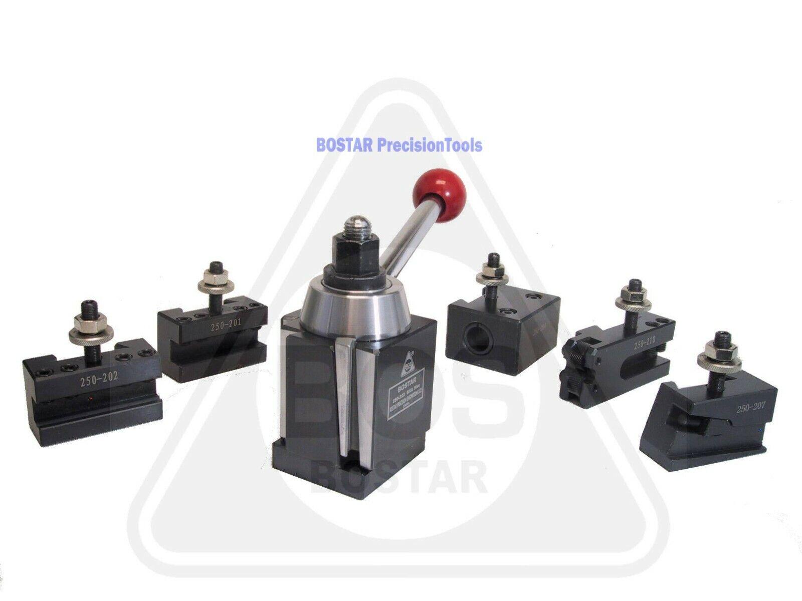 BOSTAR BXA 250-222 Wedge Type Tool Post, Tool Holder Set for Lathe 10-15