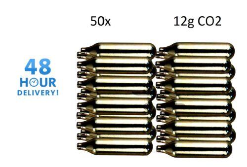 50 x 12g Co2 Gas Capsule Cartridge Air Rifle Pistol Gun Airgun 12 Gram
