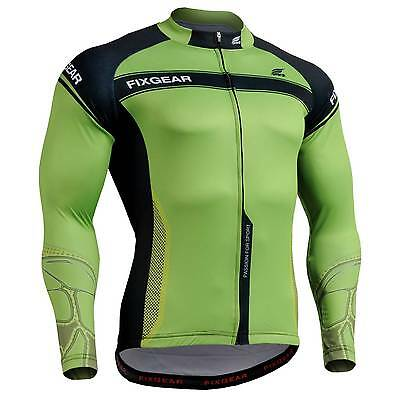 FIXGEAR CS-7501 Men's Long Sleeve Cycling Jersey Bicycle Apparel Roadbike MTB