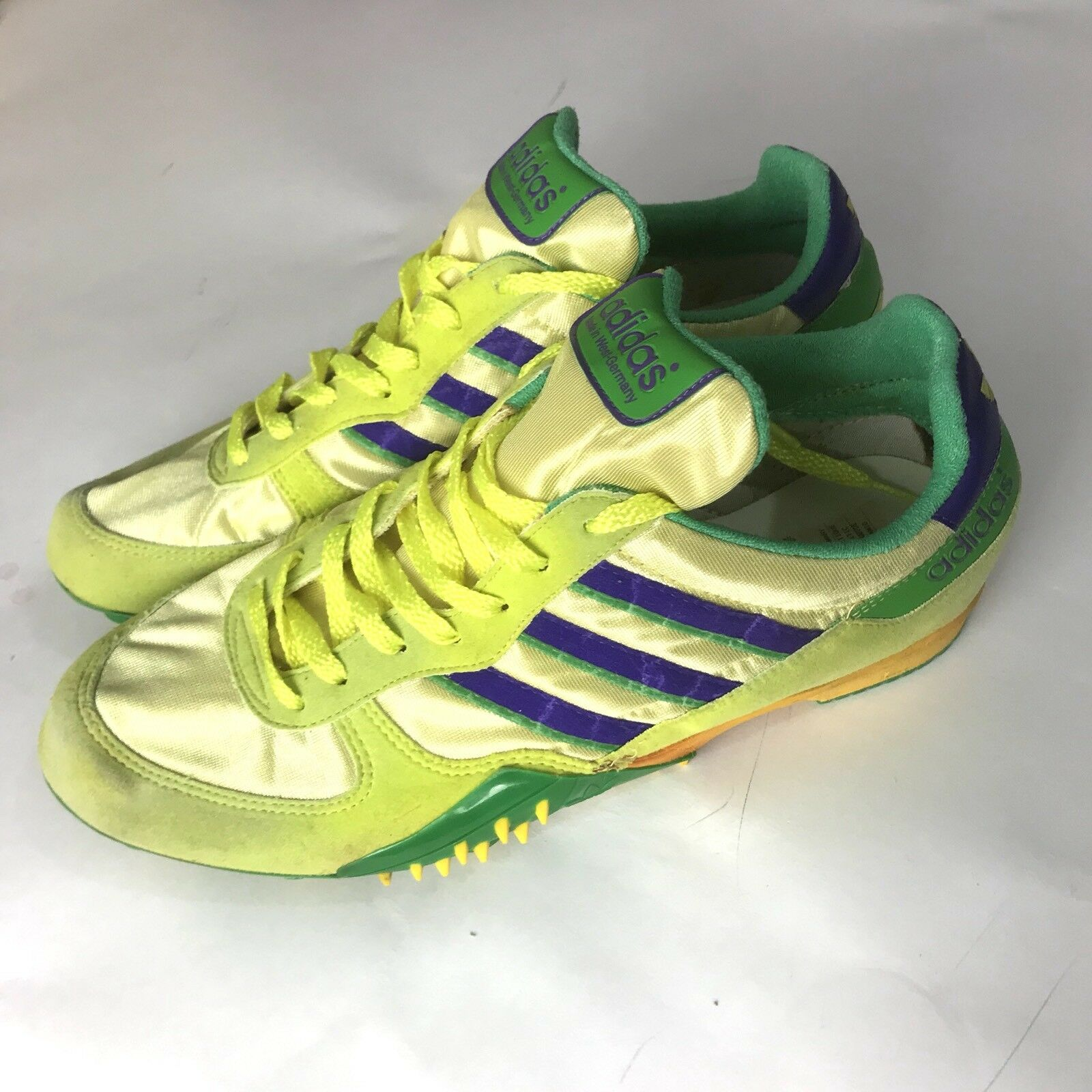 Vintage Adidas Race LD 1980s 9.5 West Germany Track Cleats Olympics 1988
